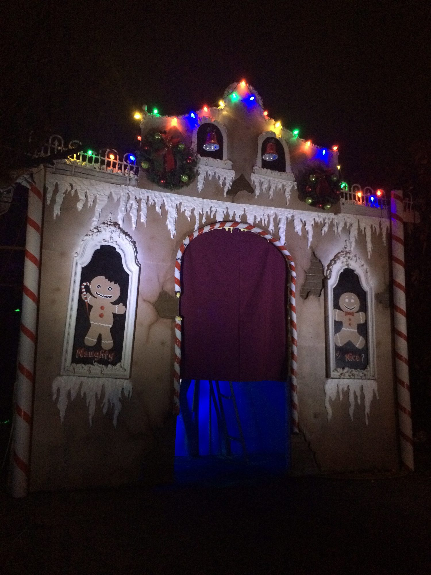 vandal image productions r and k haunt props whittier gingerdead krampus maze xmas haunted house home