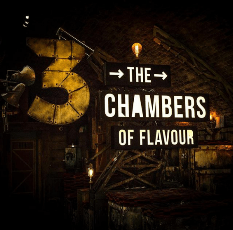 UK London Gingerline Chambers of Flavour Immersive Dining Dinner Experience