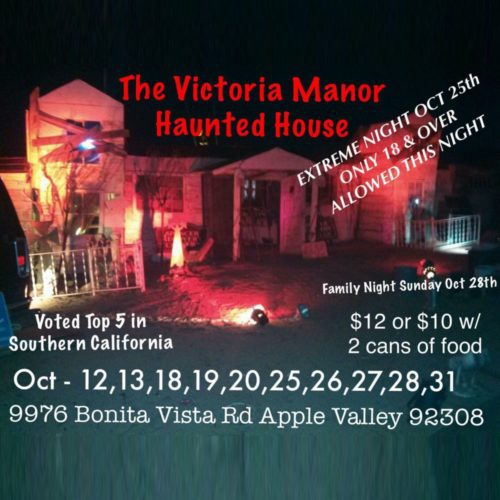 High Desert Haunted House, Ghost Town, Haunted House, Halloween, 2018, Apple Valley, CA, Victoria Manor