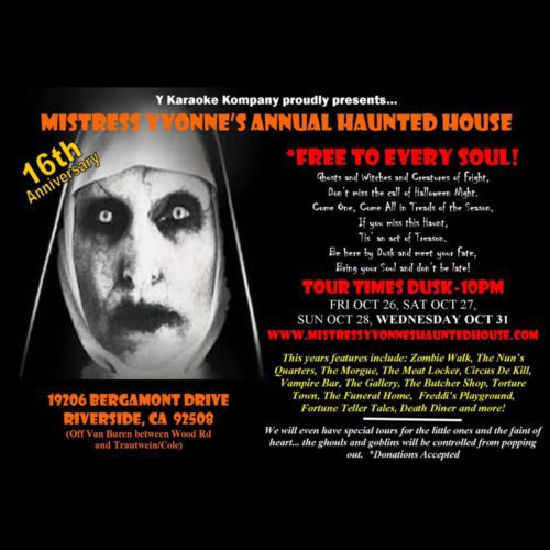 Mistess Yvonne's Haunted House, Mistress Yvonne, Haunted House, Home Haunt, Riverside, CA, Halloween, 2018