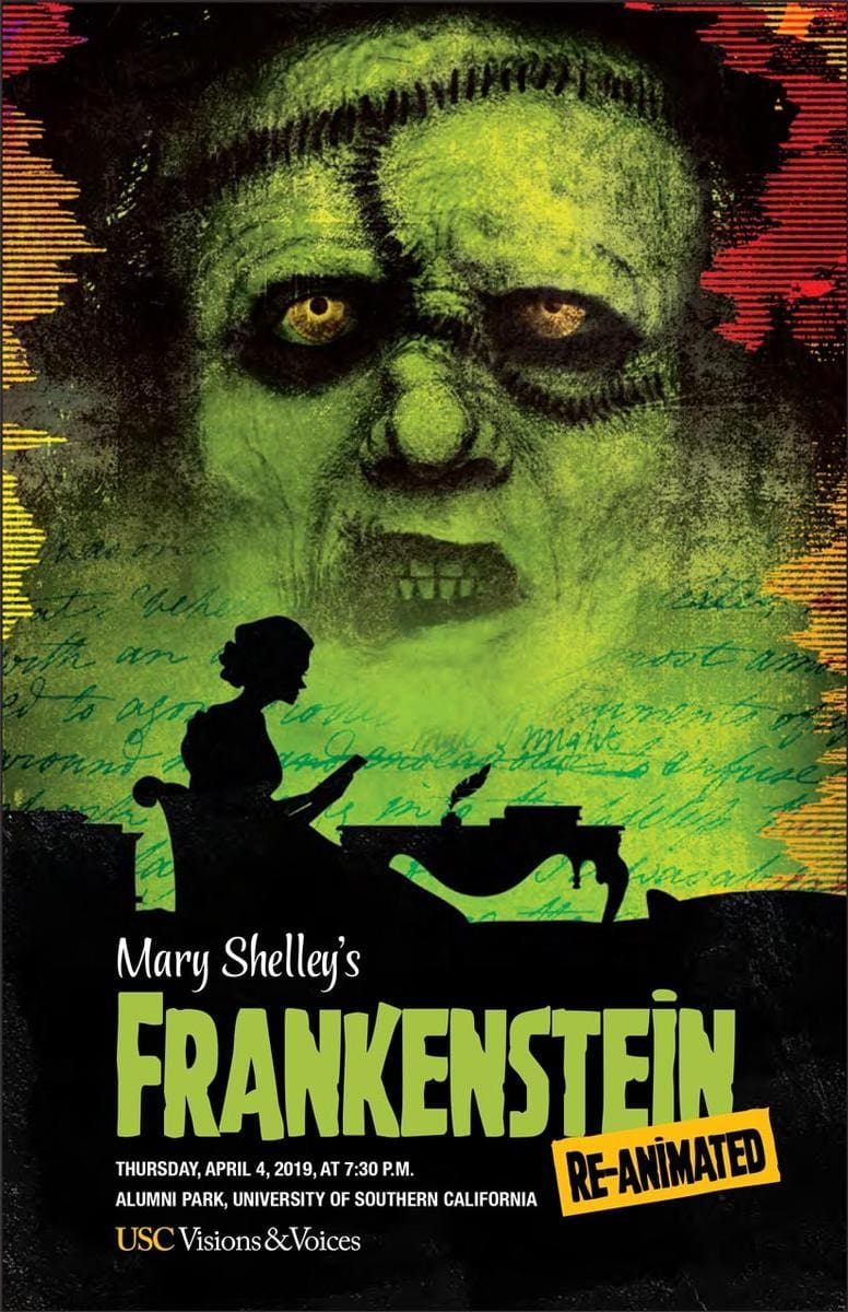 Mary Shelley, Frankenstein, Re-Animated, Immersive, Cinema, Los Angeles, CA, USC