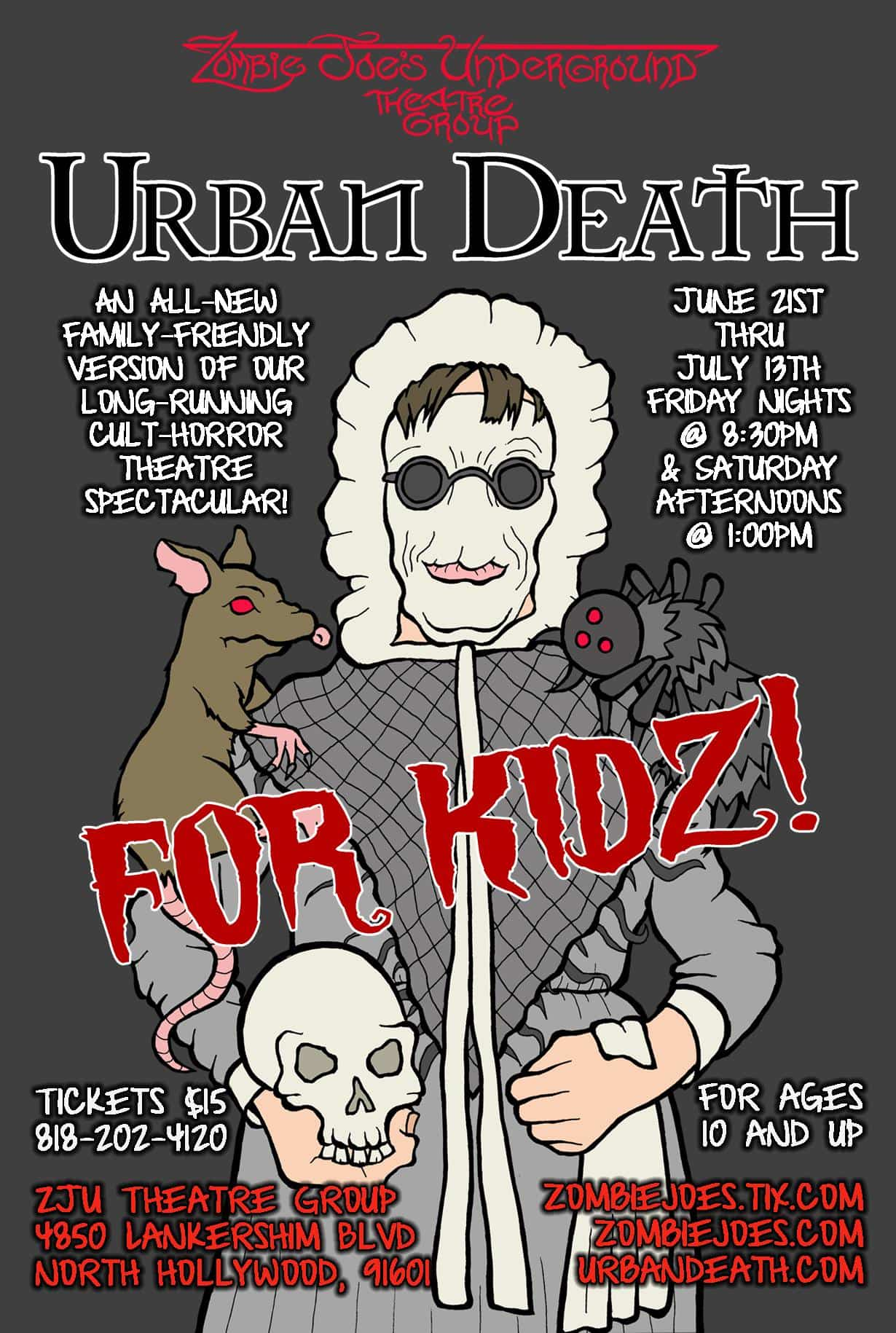 Urban Death, Zombie Joes, ZJU, North Hollywod, CA, Immersive Horror, Los Angeles