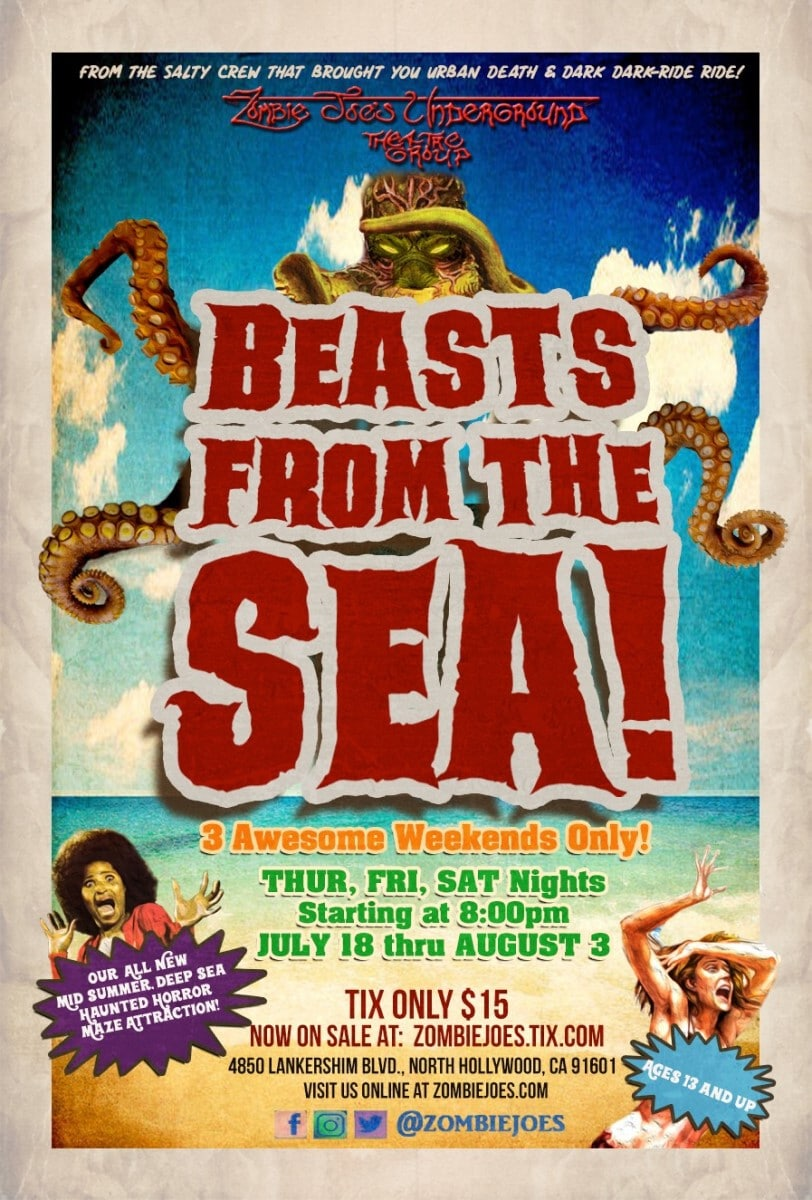 Beasts from the Sea, Los Angeles, North Hollywood, Immersive Horror, Zome Joe's Underground Theatre Group, ZJU