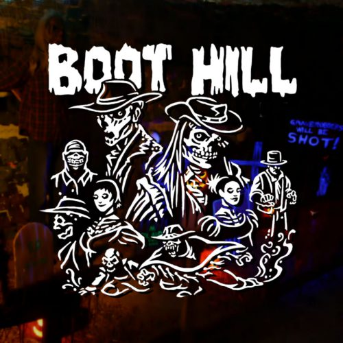 The Legend of Boot Hill Home Haunt Yard Display Halloween Haunted House Irvine Orange County