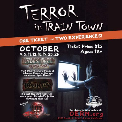 Terror in Train Town. The Bloodshed Brothers, Hyde Streed Masacre, The Darkness, Haunted House, Perris, CA