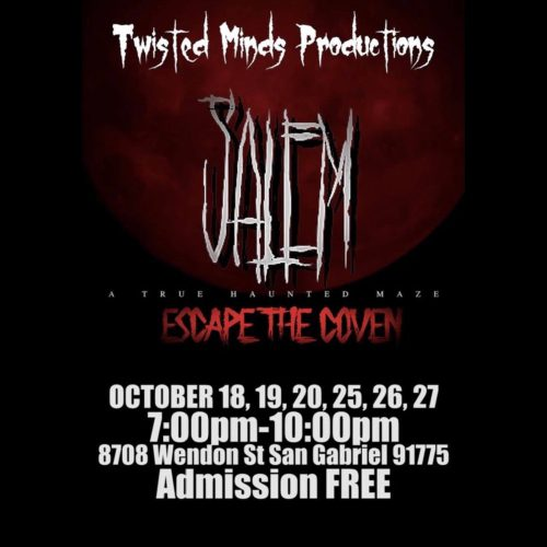Twisted Minds Productions, Salem, Escape the Coven, Haunted House, Los Angeles, CA