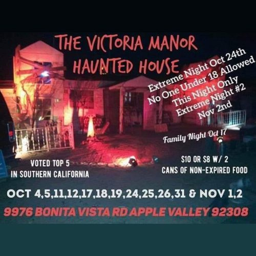 Victoria Manor Haunted House, High Desert Haunted House, High Desert, Apple Valley, CA, Home Haunt