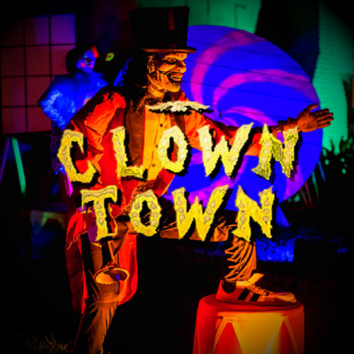 Clown Town Halloween Yard Display