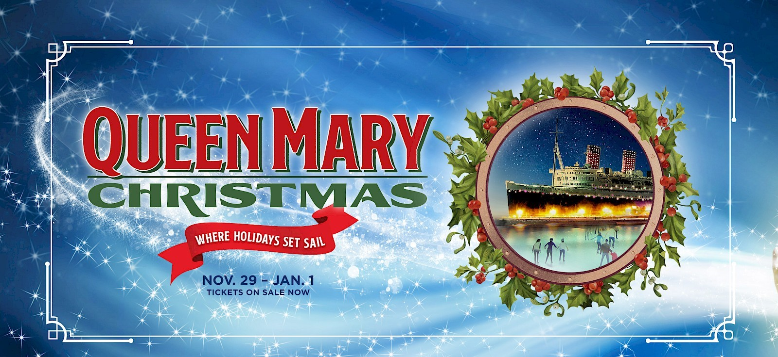 Queen Mary Christmas, Theme Parks, Large Scale Attractions, Installations, Long Beach, CA