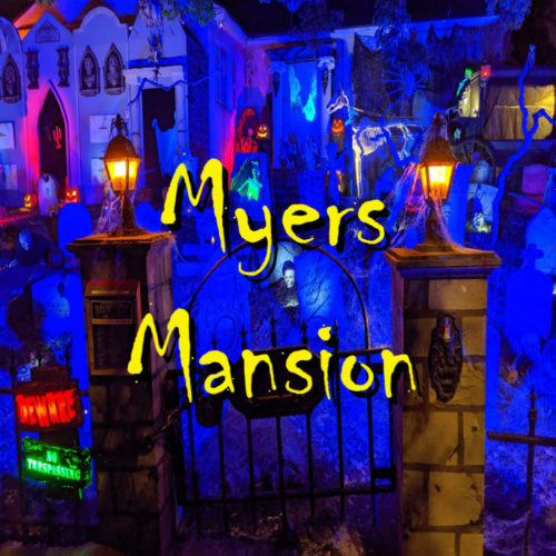 Myers Mansion Yard Display Halloween Horror Home Haunt